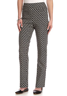 Alfred Dunner Petite Ethnic Beat Proportion Pant Average