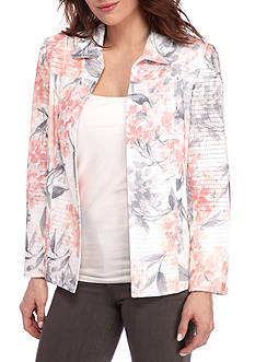 Alfred Dunner Petite Rose Hill Hydrangea Jacket