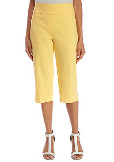 Alfred Dunner Petite Seas the Day Solid Capri