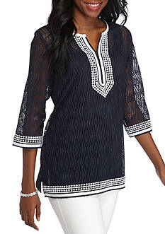 Alfred Dunner Seas the Day Lace Knit