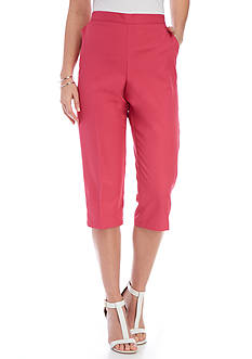 Alfred Dunner Reel It In Solid Cuff Capri