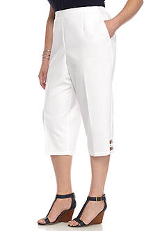 Alfred Dunner Plus-Size Reel It In Strap Cuff Capri