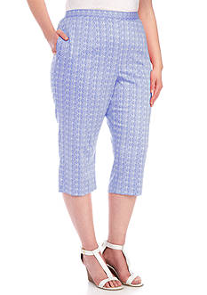 Alfred Dunner Plus Reel It In Seahorse and Shell Capri