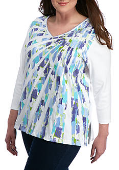Alfred Dunner Plus Reel It In Starburst Knit