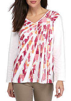 Alfred Dunner Petite Reel It In Startburst Tee
