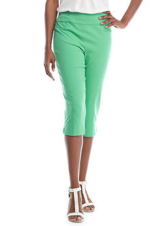 Alfred Dunner Bahama Bays Solid Stretch Capris