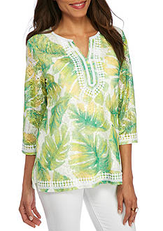 Alfred Dunner Petite Bahama Bays Tropic Textured Knit