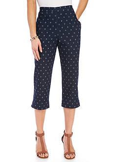 Alfred Dunner Lady Liberty Solid Capris