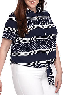 Alfred Dunner Plus Size Lady Liberty Star and Stripe Blouse