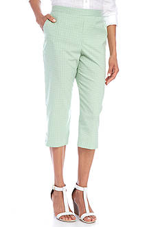 Alfred Dunner Garden Party Button Cuff Capri