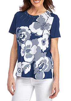 Alfred Dunner Garden Party Floral Tee