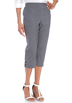 Alfred Dunner Petite Garden Party Button Cuff Capris