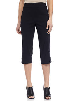 Alfred Dunner Lace It Up Stretch Capris