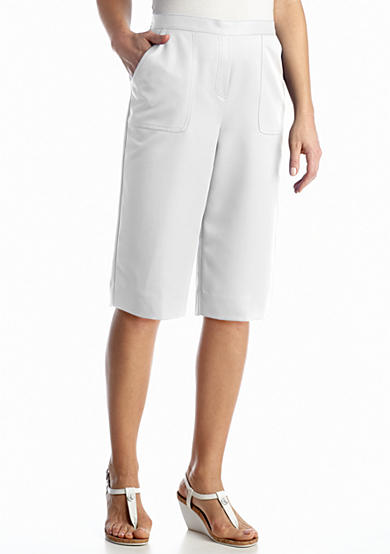 Alfred Dunner Petite Coastal Breeze Collection Solid Short