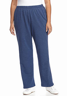 Alfred Dunner Plus Size French Terry Average Pant
