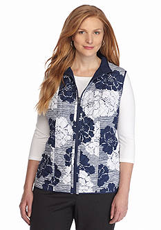 Alfred Dunner Plus Size Quilted Reversible Vest