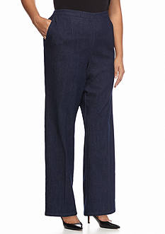 Alfred Dunner Plus Size Sausalito Solid Regular Pants