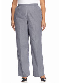 Alfred Dunner Plus Size Sausalito Pinstripe Medium Pants