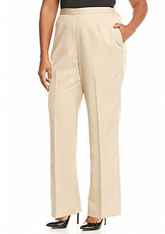 Alfred Dunner Plus Size Baton Rouge Proportioned Pull On Pant