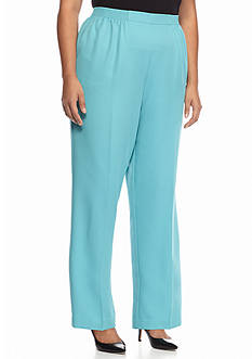 Alfred Dunner Plus Size Crystal Springs Prop Regular Pants