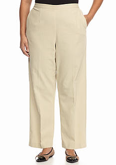 Alfred Dunner Plus Size Crystal Springs Textured Regular Pants