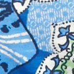 Orange Womens Tops: Blue Jets New Directions Weekend Printed Slub Core Tee