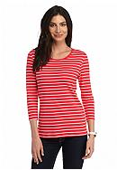 New Directions® Weekend Stripe Rib Tee
