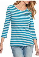 New Directions® Weekend Ribbed Stripe Tee