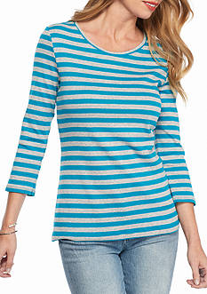 New Directions Weekend Ribbed Stripe Tee
