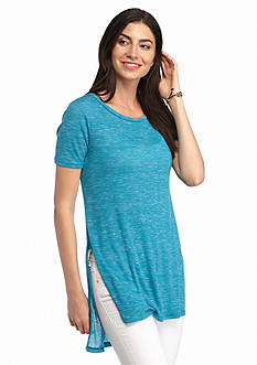 New Directions Weekend High Low Rib Tee
