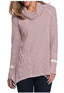 New Directions® Weekend Stripe Lace Trim Cowl