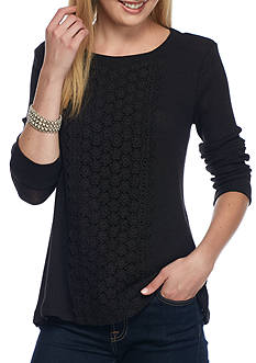 New Directions Weekend Crochet Lace Panel Top