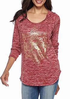 New Directions Weekend Screen Printed Pullover Sweatshirt