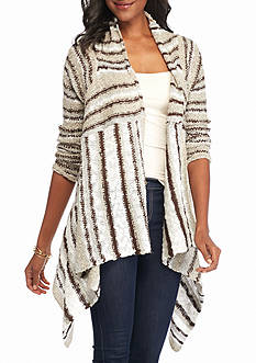 New Directions Weekend Striped Cardigan