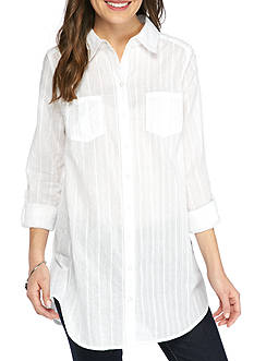 New Directions Weekend Button Front Tunic