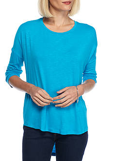New Directions Weekend Solid Drop Shoulder Tee