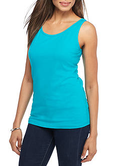 New Directions Weekend EDV Solid Layer Fashion Tank
