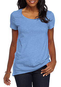 New Directions Weekend EDV Solid Knit Tee