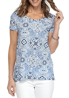 New Directions Weekend EDV Tapestry Printed Tee