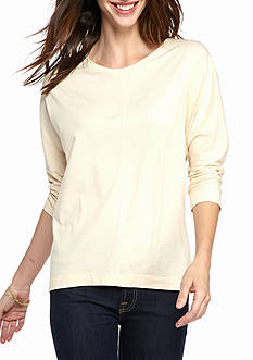 New Directions® Seam Front Dolman Top