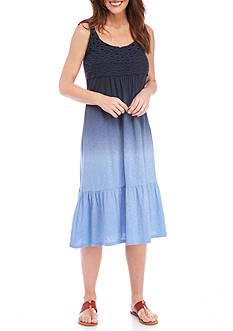 New Directions Weekend Crochet Bodice Dip Dye Dress