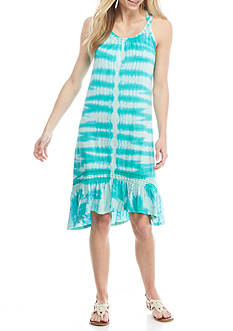 New Directions Weekend Cage Back Tie Dye Dress