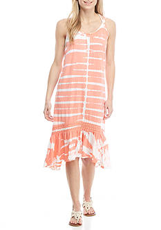 New Directions® Weekend Cage Back Tie Dye Dress