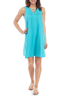 New Directions® Weekend Cross Front Dress