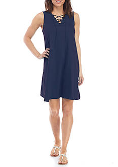 New Directions Weekend Cross Front Dress