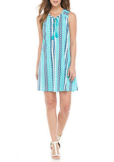 New Directions Weekend Sleeveless Tassel Tie Dress