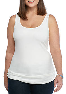 New Directions Plus Size EDV Geo Ring Tank