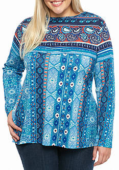 New Directions Weekend Plus Size Side Slit Tunic