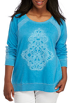 New Directions® Weekend Plus Raglan Applique Sweater