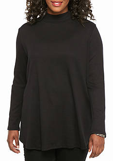 New Directions® Weekend Plus Size Swing Hem Turtleneck